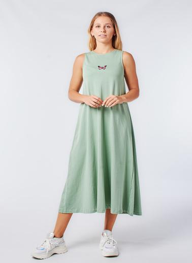 Coral Elbise Yeşil